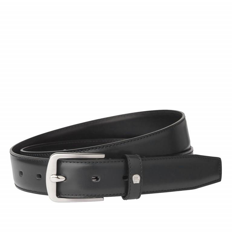 AIGNER Daily Basis Gürtel 125554 100cm Black, Farbe: schwarz, Marke: Aigner, Bild 1 von 2