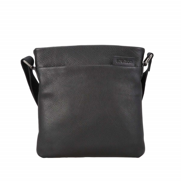Strellson Garret Shoulderbag SV Leder Schwarz, Farbe: schwarz, Marke: Strellson, EAN: 4053533140718, Abmessungen in cm: 26.5x25.5x5.0, Bild 1 von 1