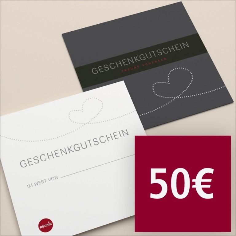 Gutschein per Post 50 €, Marke: Hausfelder, Bild 1 von 1