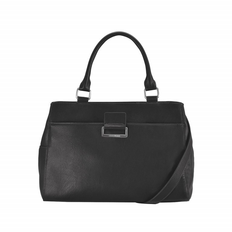 Gerry Weber Talk Different Kurzgriff Shopper Synthetisches Leder Schwarz, Farbe: schwarz, Manufacturer: Gerry Weber, EAN: 4053533130368, Dimensions (cm): 35.0x24.0x14.0, Image 1 of 1