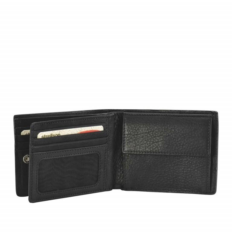 Strellson Harrison BillFold H8 Scheintasche Leder Black, Farbe: schwarz, Marke: Strellson, EAN: 4053533015566, Abmessungen in cm: 12.0x9.5x2.5, Bild 2 von 2
