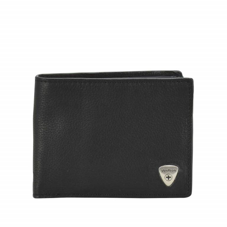 Strellson Harrison BillFold H8 Scheintasche Leder Black, Farbe: schwarz, Marke: Strellson, EAN: 4053533015566, Abmessungen in cm: 12.0x9.5x2.5, Bild 1 von 2