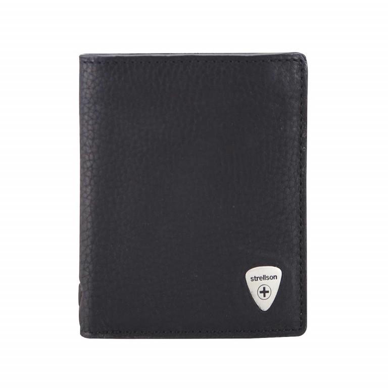 Strellson Harrison BillFold V8 Kombibörse Leder Schwarz, Farbe: schwarz, Marke: Strellson, EAN: 4053533015542, Abmessungen in cm: 9.5x12.0x2.0, Bild 1 von 2