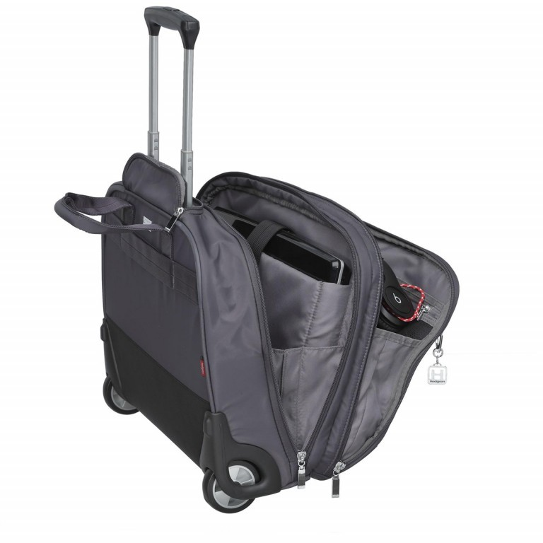 "Hedgren Diamond Touch Cindy Business Trolley 15.6"" Periscope, Farbe: grau, Marke: Hedgren, Abmessungen in cm: 44.0x35.0x18.0, Bild 2 von 4"