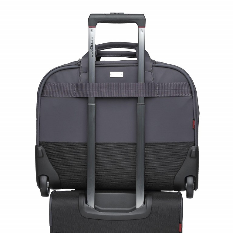 "Hedgren Diamond Touch Cindy Business Trolley 15.6"" Periscope, Farbe: grau, Marke: Hedgren, Abmessungen in cm: 44.0x35.0x18.0, Bild 4 von 4"
