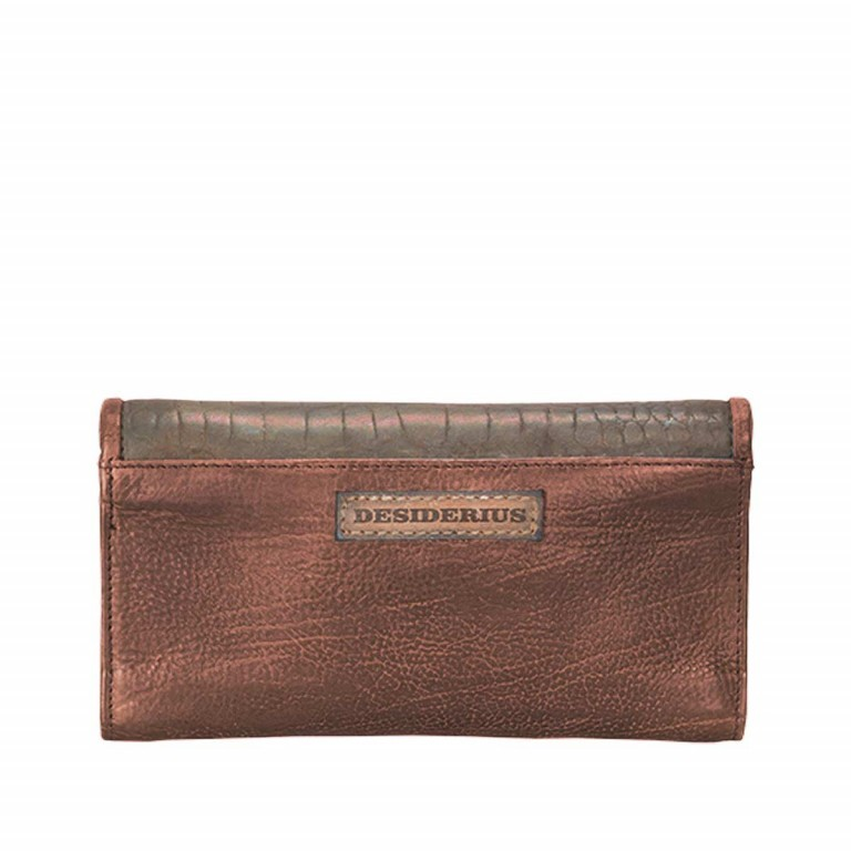 Desiderius Mons Hemma Damenbörse Leder Copper, Farbe: cognac, Marke: Desiderius, Abmessungen in cm: 19.0x10.0x2.0, Bild 2 von 2