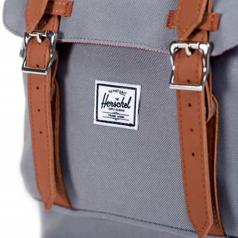 Herschel Rucksack Little America 23L Grey Natur, Farbe: grau, Marke: Herschel, EAN: 828432010448, Abmessungen in cm: 28.0x50.0x17.0, Bild 5 von 5
