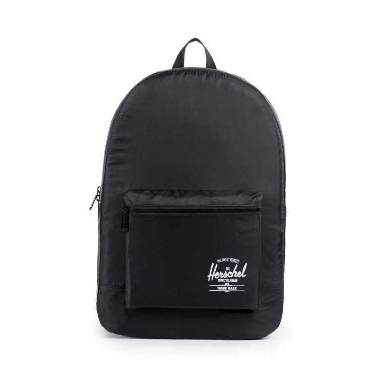 Herschel Rucksack Packable Daypack Black, Farbe: schwarz, Marke: Herschel, EAN: 828432012107, Abmessungen in cm: 32.0x45.0x14.0, Bild 1 von 5
