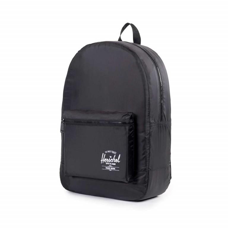 Herschel Rucksack Packable Daypack Black, Farbe: schwarz, Manufacturer: Herschel, EAN: 828432012107, Dimensions (cm): 32.0x45.0x14.0, Image 3 of 5