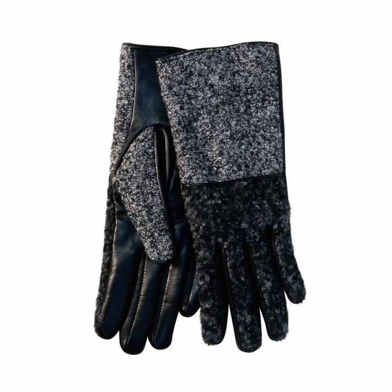 UNMADE Leather Glove with Loop Yarn Damenhandschuh 7 Schwarz, Farbe: schwarz, Marke: Unmade, Bild 1 von 1