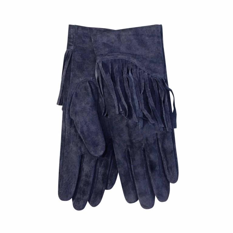 UNMADE Suede Glove with Fringes Damenhandschuh 7 Blau, Farbe: blau/petrol, Marke: Unmade, Bild 1 von 1