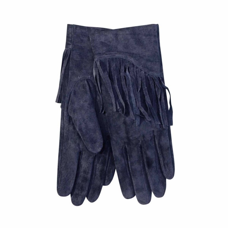 UNMADE Suede Glove with Fringes Damenhandschuh 7,5 Blau, Farbe: blau/petrol, Manufacturer: Unmade, Image 1 of 1