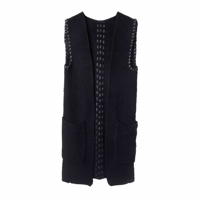 UNMADE Leather Trims Waistcoat Weste, Manufacturer: Unmade, Image 1 of 1