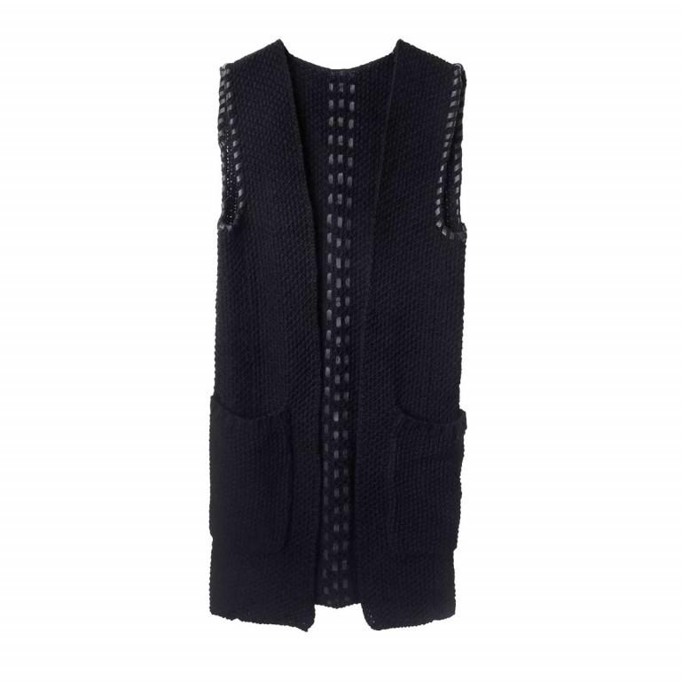 UNMADE Leather Trims Waistcoat Weste Schwarz, Farbe: schwarz, Marke: Unmade, Bild 1 von 1