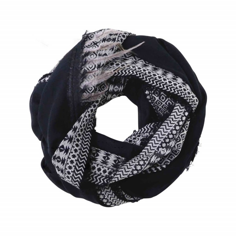 UNMADE Feather Weave Scarf Schwarz, Farbe: schwarz, Marke: Unmade, Abmessungen in cm: 120.0x120.0, Bild 1 von 1