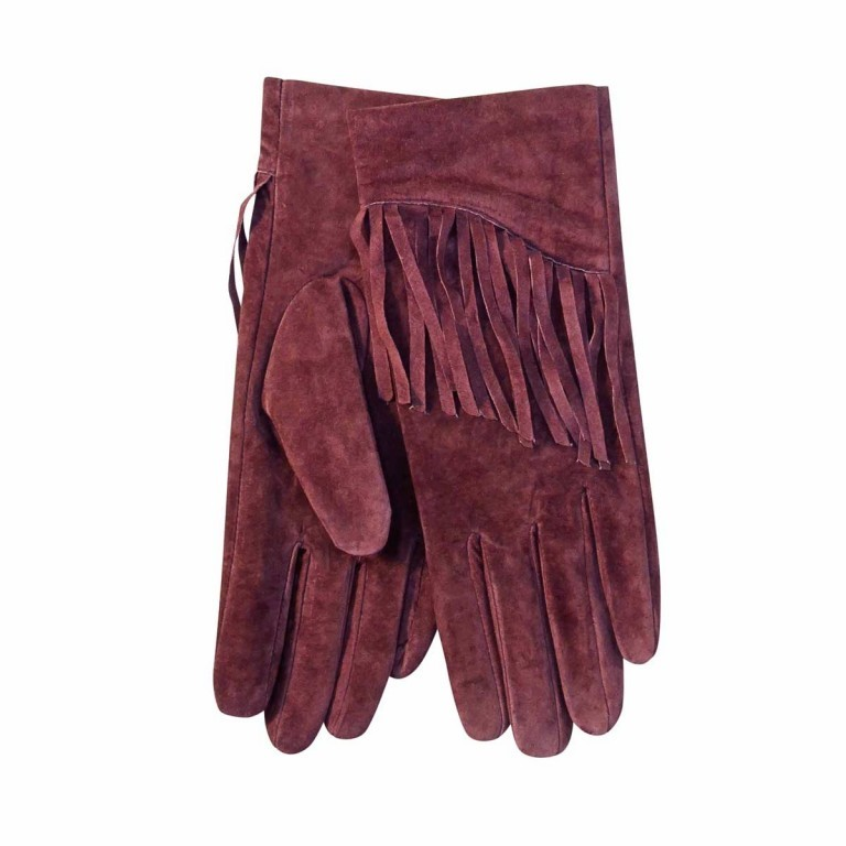 UNMADE Suede Glove with Fringes Damenhandschuh 7 Rosa, Farbe: rosa/pink, Marke: Unmade, Bild 1 von 1