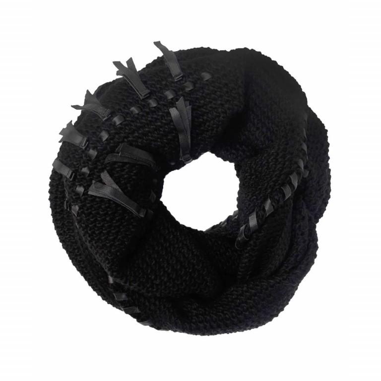 UNMADE Leather Trims Scarf Dreiecks-Schal Schwarz, Farbe: schwarz, Marke: Unmade, Abmessungen in cm: 180.0x75.0, Bild 1 von 1