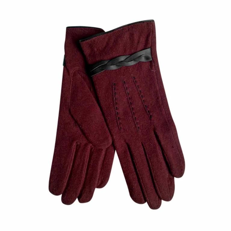 UNMADE Twisted Detail Glove Wollhandschuh 8 Weinrot, Farbe: rot/weinrot, Marke: Unmade, Bild 1 von 1