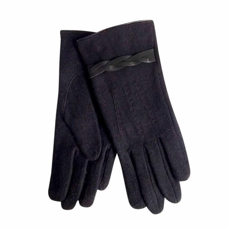UNMADE Twisted Detail Glove Wollhandschuh 7,5 Schwarz, Farbe: schwarz, Marke: Unmade, Bild 1 von 1