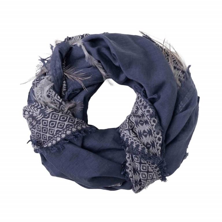 UNMADE Feather Weave Scarf Blau, Farbe: blau/petrol, Marke: Unmade, Abmessungen in cm: 120.0x120.0, Bild 1 von 1