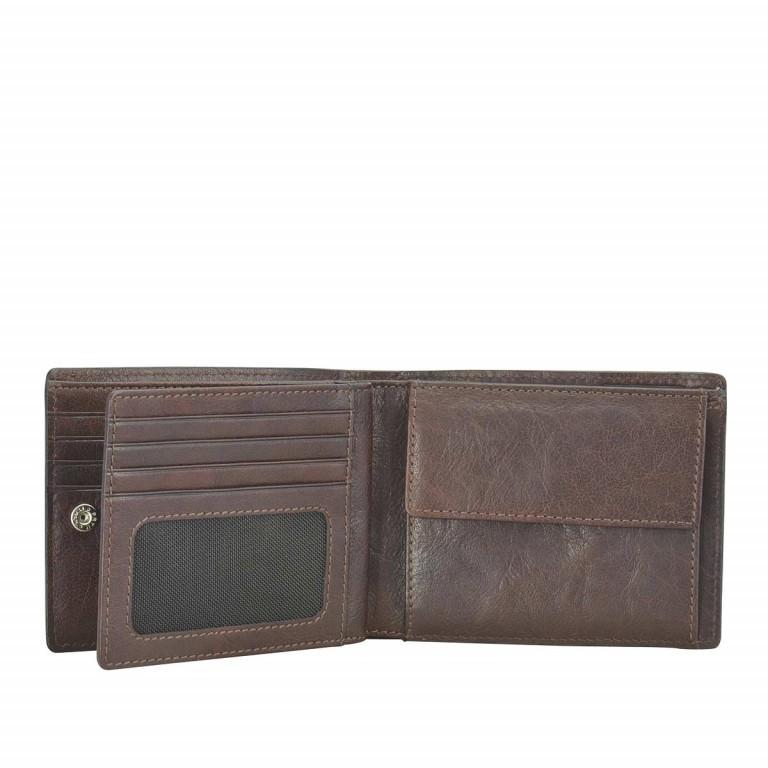 Strellson Jefferson BillFold H8 Geldbörse Leder Dark-Brown, Farbe: braun, Marke: Strellson, EAN: 4053533141685, Abmessungen in cm: 12.0x10.0x2.5, Bild 2 von 2