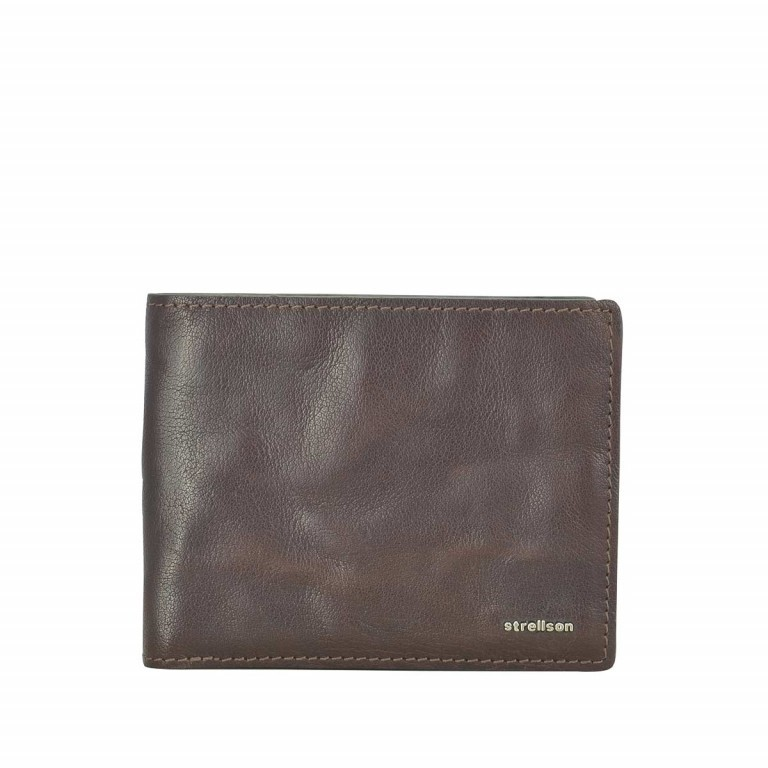 Strellson Jefferson BillFold H8 Geldbörse Leder Dark-Brown, Farbe: braun, Marke: Strellson, EAN: 4053533141685, Abmessungen in cm: 12.0x10.0x2.5, Bild 1 von 2