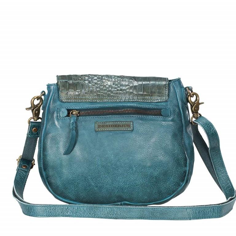 Desiderius Mons Karinna Schultertasche Blue, Farbe: blau/petrol, Marke: Desiderius, Abmessungen in cm: 24.0x21.0x5.0, Bild 3 von 3