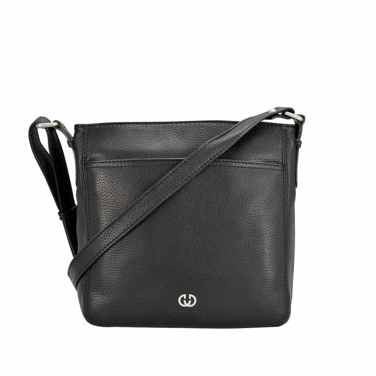 Gerry Weber Los Angeles Shoulder Bag M Leder Schwarz, Farbe: schwarz, Manufacturer: Gerry Weber, EAN: 4006053992862, Dimensions (cm): 22.0x23.0x7.0, Image 1 of 1