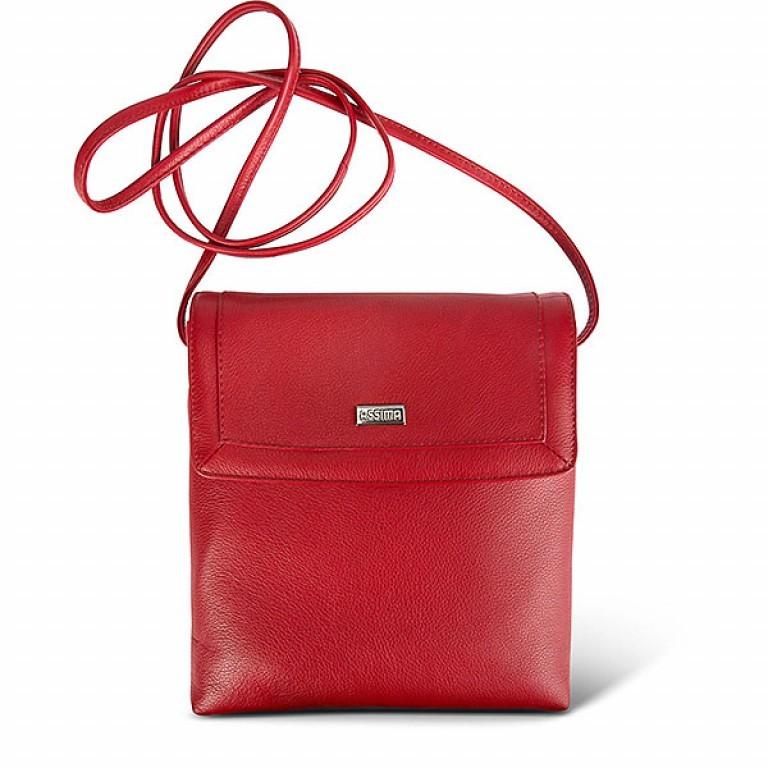 Assima Leder Crossbody Bag Kiel Rot, Farbe: rot/weinrot, Marke: Assima, Abmessungen in cm: 22.0x23.0x4.0, Bild 1 von 1