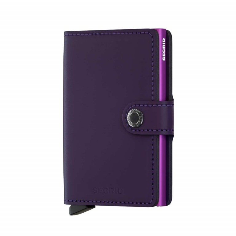 SECRID Miniwallet Matte Purple, Farbe: flieder/lila, Marke: Secrid, Abmessungen in cm: 6.8x10.2x2.1, Bild 1 von 3