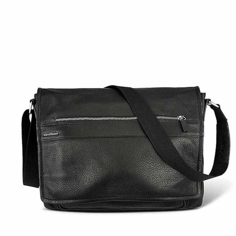 Strellson Messenger Bag  Schwarz Newton, Farbe: schwarz, Marke: Strellson, EAN: 4006053209083, Abmessungen in cm: 38.0x31.0x11.0, Bild 1 von 1