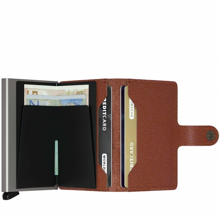 SECRID Miniwallet Crisple Cognac, Farbe: cognac, Marke: Secrid, Abmessungen in cm: 6.8x10.2x2.1, Bild 2 von 3