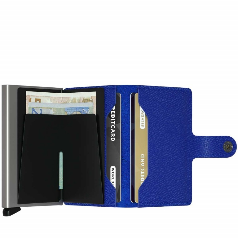 SECRID Miniwallet Crisple Cobalt, Farbe: blau/petrol, Marke: Secrid, Abmessungen in cm: 6.8x10.2x2.1, Bild 2 von 3