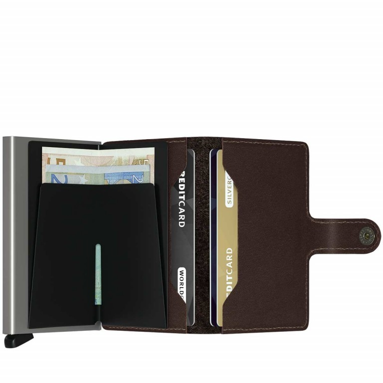 SECRID Miniwallet Original Brown, Farbe: braun, Manufacturer: Secrid, Dimensions (cm): 6.8x10.2x2.1, Image 2 of 3