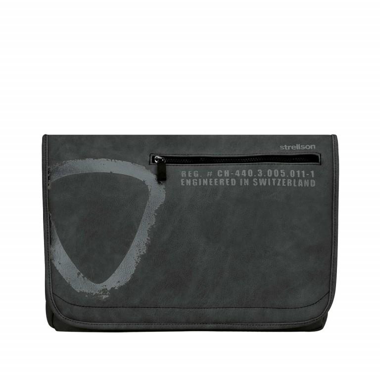 Strellson Paddington Messenger LH Black, Farbe: schwarz, Marke: Strellson, EAN: 4053533065233, Abmessungen in cm: 40.0x32.0x12.0, Bild 1 von 1