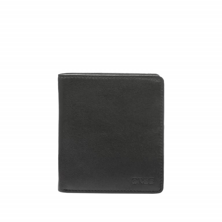 BREE Pocket 113 Kombibörse Leder Schwarz, Farbe: schwarz, Marke: Bree, Abmessungen in cm: 11.0x12.0x2.0, Bild 1 von 2