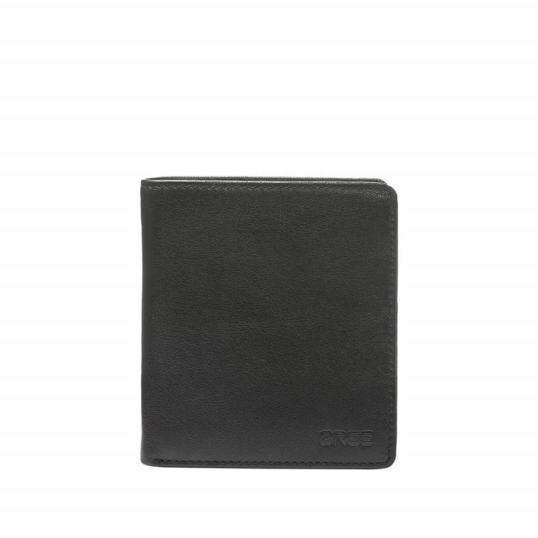 BREE Pocket 113 Kombibörse Leder Schwarz, Farbe: schwarz, Manufacturer: Bree, Dimensions (cm): 11.0x12.0x2.0, Image 1 of 2