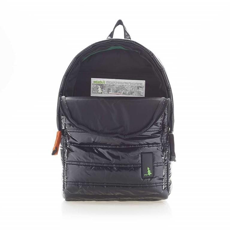 MUeSLii II RC1 Classic Shiny Rucksack Pitch Black, Farbe: schwarz, Marke: Mueslii, EAN: 8051093660031, Abmessungen in cm: 23.0x35.0x10.0, Bild 3 von 4