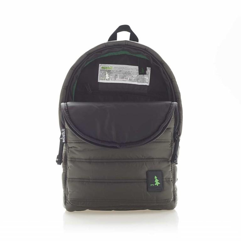 MUeSLii RE Rucksack Dark Green, Farbe: grün/oliv, Marke: Mueslii, EAN: 8051093661175, Abmessungen in cm: 26.0x37.0x12.0, Bild 3 von 4