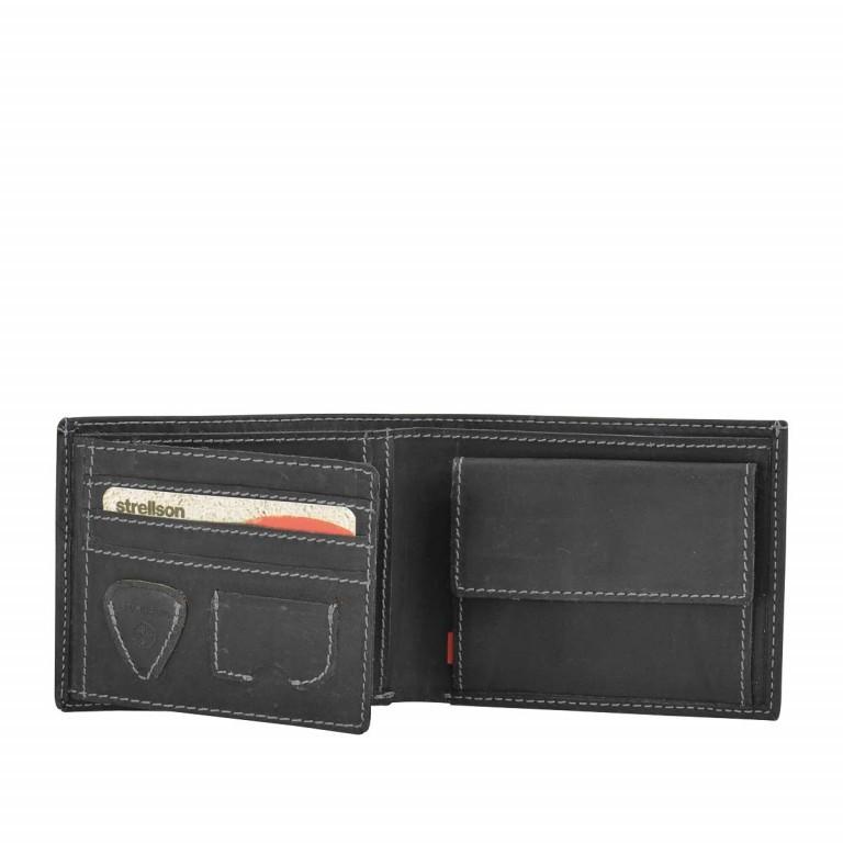 Strellson Richmond Billfold H6 Geldbörse Leder Black, Farbe: schwarz, Marke: Strellson, EAN: 4053533141876, Abmessungen in cm: 11.5x9.5x2.0, Bild 2 von 2