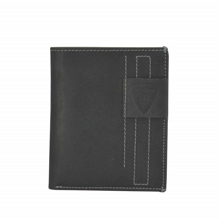 Strellson Richmond Billfold V12 Geldbörse Leder Black, Farbe: schwarz, Marke: Strellson, EAN: 4053533141890, Abmessungen in cm: 10.5x13.0x2.0, Bild 1 von 2