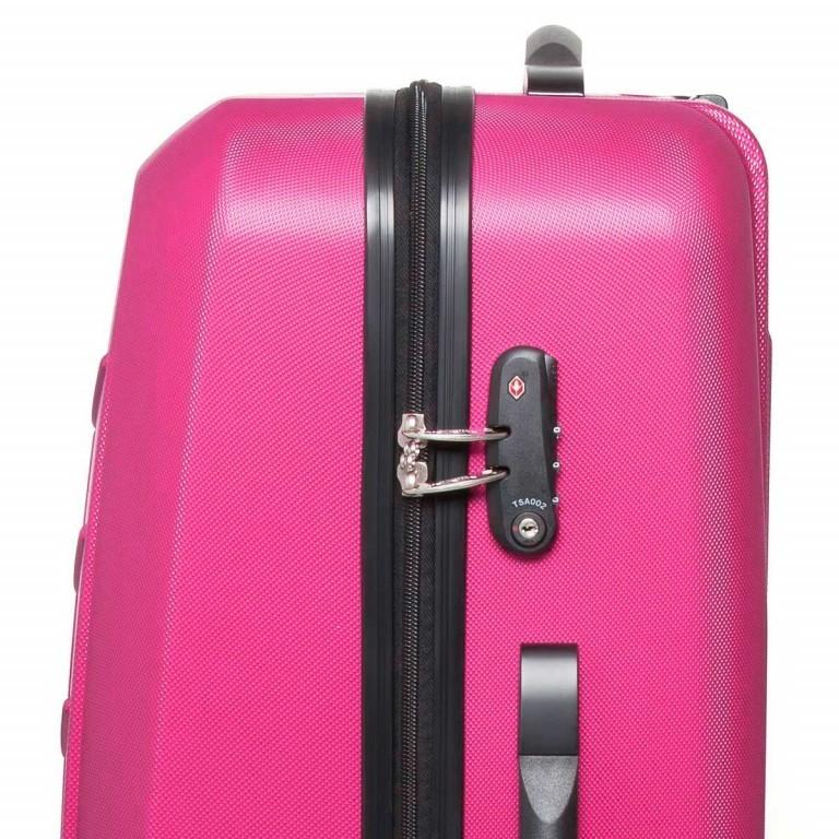 Travelite Robusto 4-Rad Trolley 77cm  Pink, Farbe: rosa/pink, Marke: Travelite, Abmessungen in cm: 50.0x77.0x31.0, Bild 4 von 5