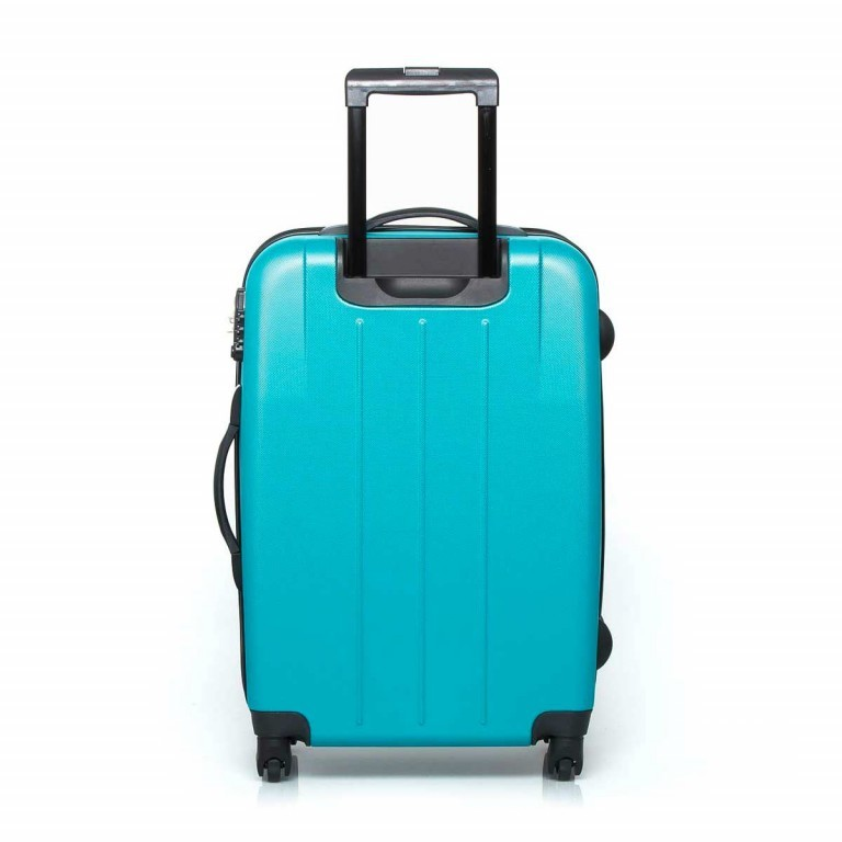 Travelite Robusto 4-Rad Trolley 66cm Türkis, Farbe: grün/oliv, Marke: Travelite, Abmessungen in cm: 45.0x66.0x27.0, Bild 3 von 5