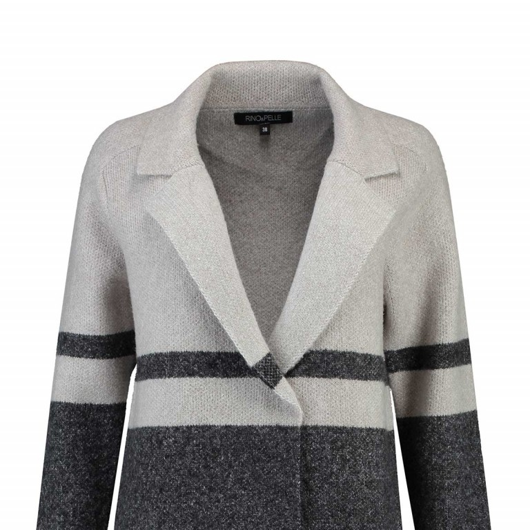 RINO & PELLE Mantel Regan Beige Grey Gr.L, Farbe: grau, beige, Marke: Rino & Pelle, Bild 2 von 2