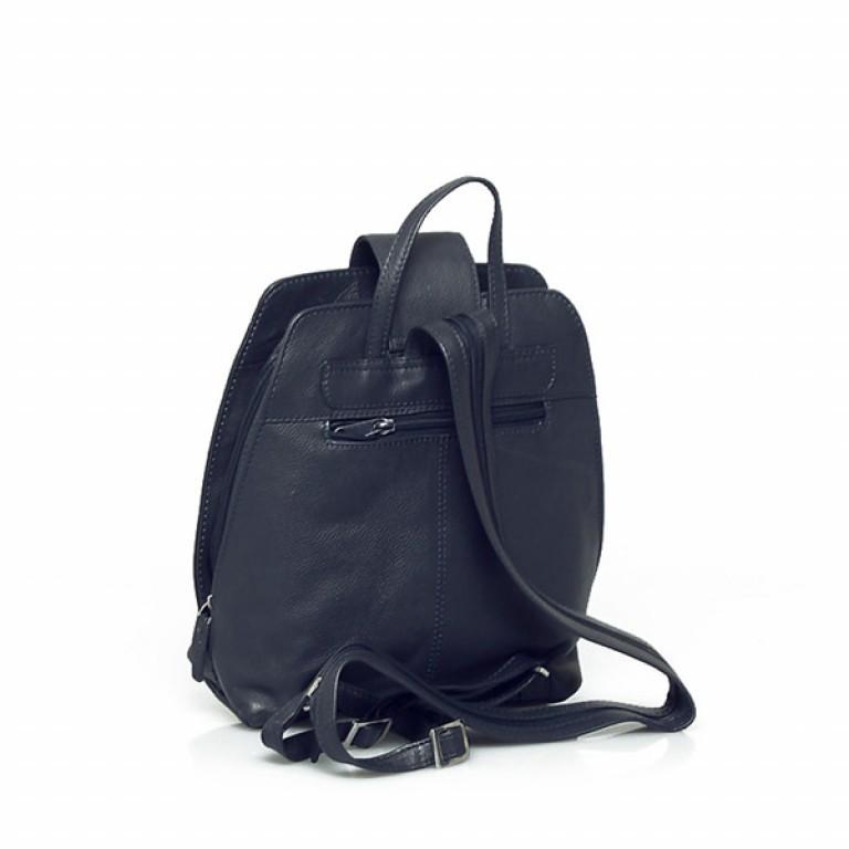 Portobello Damenrucksack mit Riegel Leder Blau, Farbe: blau/petrol, Marke: Portobello, Abmessungen in cm: 25.0x32.0x12.0, Bild 2 von 2