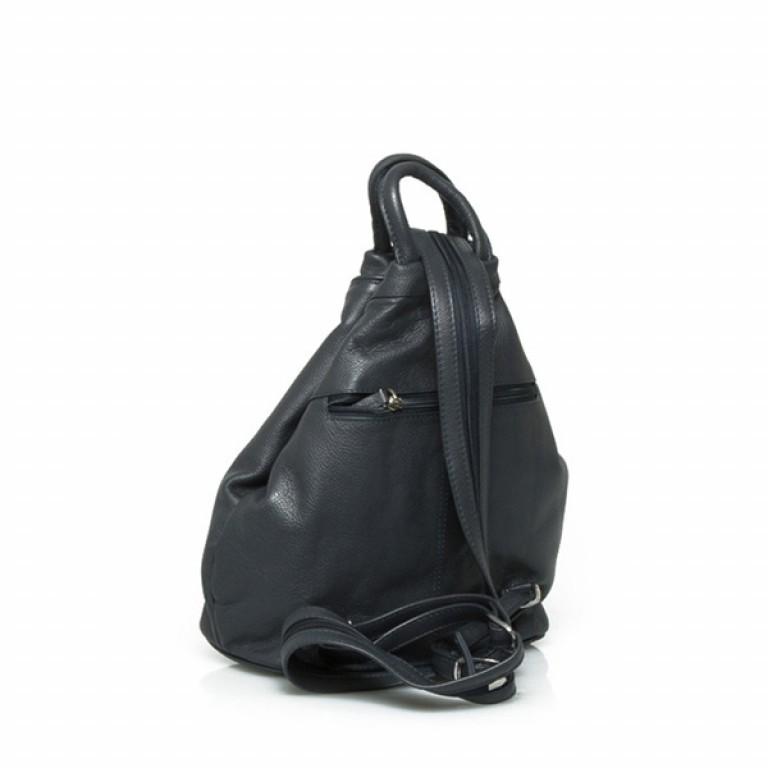 Portobello Damenrucksack RV-Vortasche Leder Schwarz, Farbe: schwarz, Marke: Portobello, Abmessungen in cm: 26.0x32.0x12.0, Bild 2 von 2