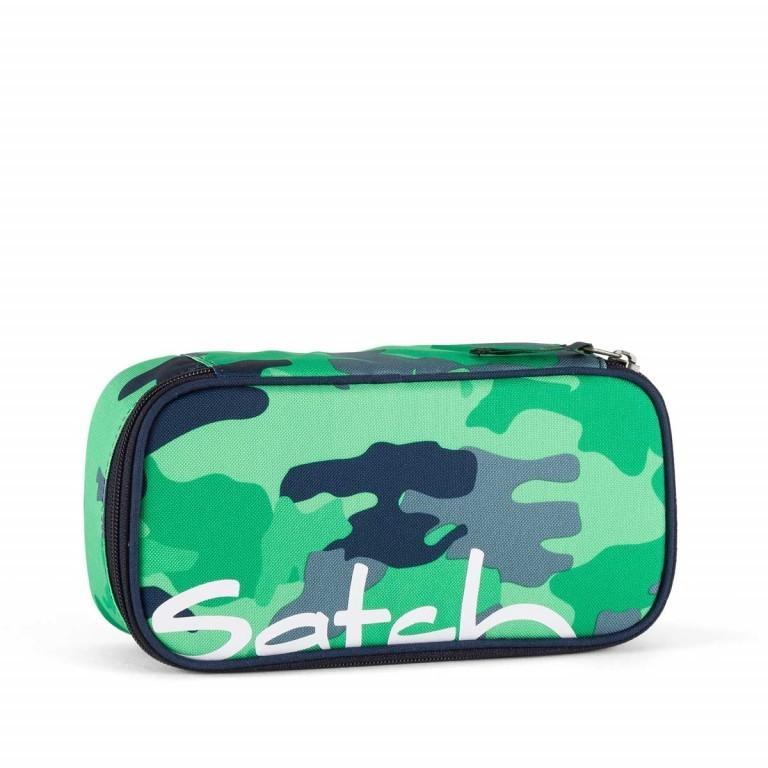 Satch Schlamperbox Grün Grau Camouflage, Farbe: grün/oliv, Manufacturer: Satch, EAN: 4057081005420, Dimensions (cm): 23.0x12.5x7.0, Image 1 of 1