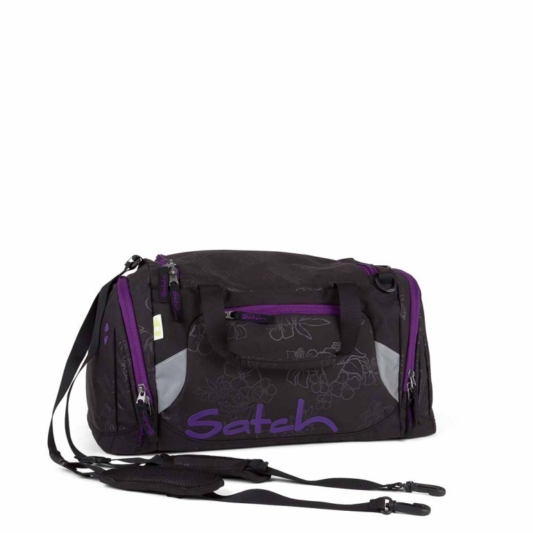 Satch Sporttasche Purple Hibiscus, Manufacturer: Satch, EAN: 4260389768618, Dimensions (cm): 50.0x25.0x25.0, Image 1 of 1
