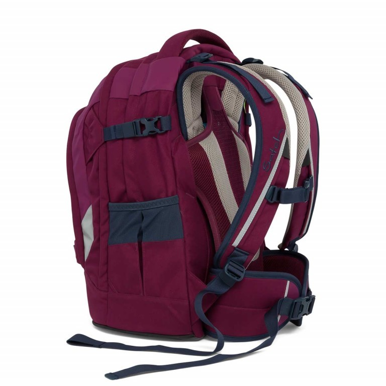 Satch Pack Rucksack Pure Purple, Farbe: rot/weinrot, Manufacturer: Satch, EAN: 4057081005178, Dimensions (cm): 30.0x45.0x22.0, Image 4 of 7