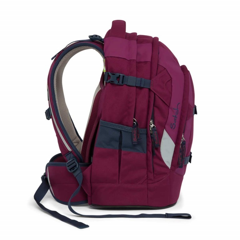 Satch Pack Rucksack Pure Purple, Farbe: rot/weinrot, Manufacturer: Satch, EAN: 4057081005178, Dimensions (cm): 30.0x45.0x22.0, Image 6 of 7
